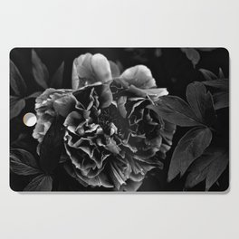 Black And White Flower Cutting Board
