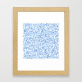 Bells Flower - BUTTERFLIES - CAMPANULA BLUE Framed Art Print