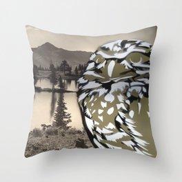 Owl Landscape Throw Pillow