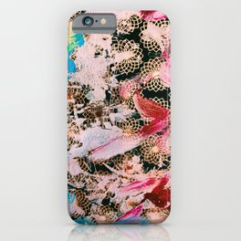 Sparrow Abstract Painting iPhone Case