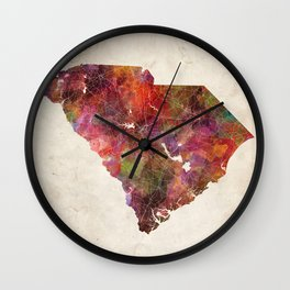 South Carolina map Wall Clock