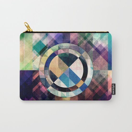 Textured Geometric Shapes Carry-All Pouch