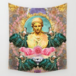 softest romantic rose queen Wall Tapestry