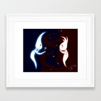 aliens Framed Art Prints featuring Aliens by EmemArts