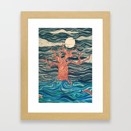 Strokes of Night Framed Art Print