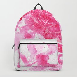 Exploding Rose Watercolour painting Backpack