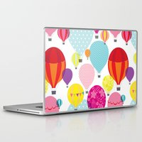 hot air balloons Laptop & iPad Skins featuring Hot air balloons by Tat Georgieva