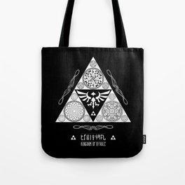 Legend of Zelda Kingdom of Hyrule Crest Letterpress Vector Art Tote Bag