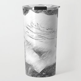 Pink Roses in Anzures 3 Charcoal Travel Mug