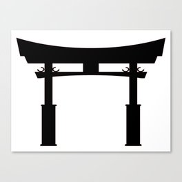 Tori Gate Silhouette Canvas Print