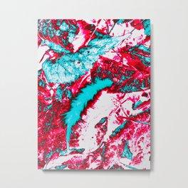Surreal Feather & Leaves III Metal Print