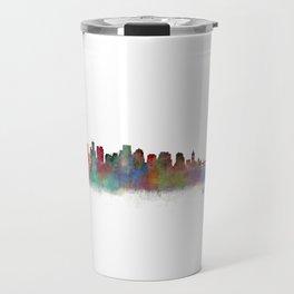 Boston City Skyline Hq V2 Massachusetts Travel Mug