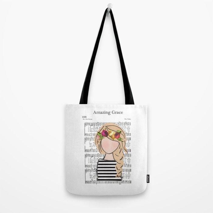 Amazing Grace - Blonde Braid Tote Bag