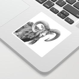 Animal Photography | Mountain Goat | Minimalism Art Sticker
