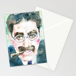 GROUCHO MARX - watercolor portrait Stationery Cards