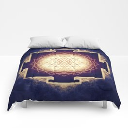 Sri Yantra IX Comforters
