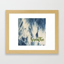 Breathe Indigo Framed Art Print
