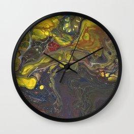 Fluid Art 4 Wall Clock