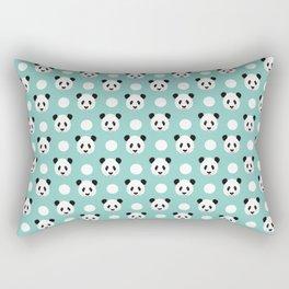 Panda polka dots pattern print minimal trendy kids design pillow cell phone cute panda cub character Rectangular Pillow