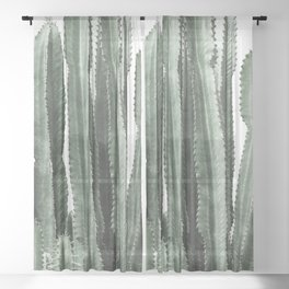 Cactus Vintage Sheer Curtain