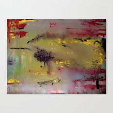 Yellow on Red Canvas Print