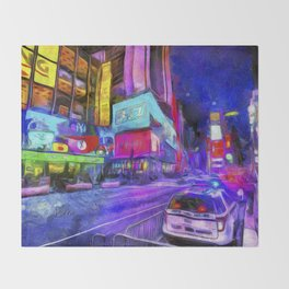 Times Square Van Gogh Throw Blanket