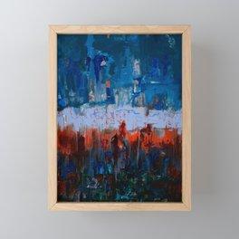 Blue and Orange Framed Mini Art Print