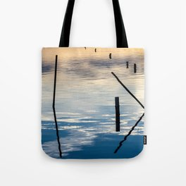 Pieces of wood reflection Tote Bag