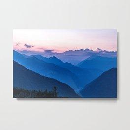 Alps Landscape Metal Print