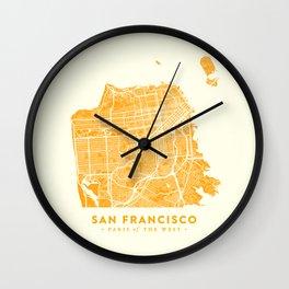 San Francisco City Map 03 Wall Clock
