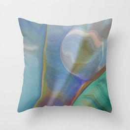 Oil & Water Abstract Art Throw Pillow