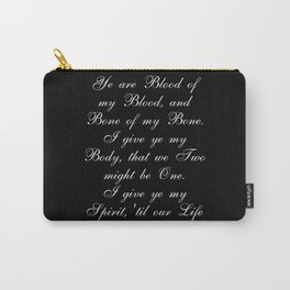 Outlander Wedding Vows Carry-All Pouch