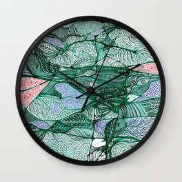 Drops in the Green Cell  Wall Clock