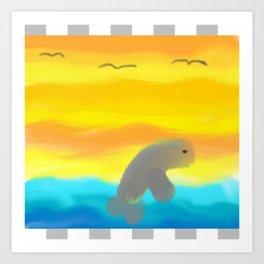 Dolphin In Flight Art Print