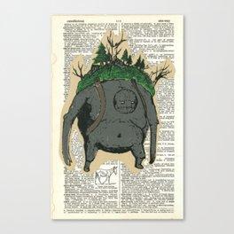 Mt. Giant & His Horse Canvas Print