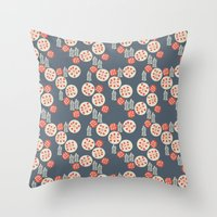 confetti Throw Pillows featuring confetti by jennifer judd-mcgee