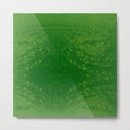 Bright Sea Foam Water Metal Print