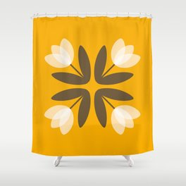 Tulips from Amsterdam in Mustard Yellow Shower Curtain