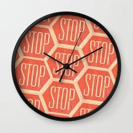 Stop Vintage Wall Clock