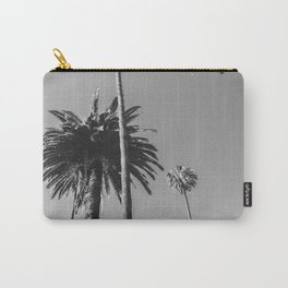 Palm Trees (Black and White) Carry-All Pouch