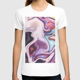 pixel glitch marble T-shirt