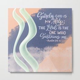 God is My Help Metal Print