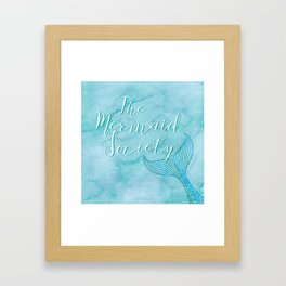 The Mermaid Society Framed Art Print