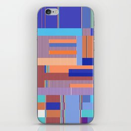 Scandinavian Moon (Blue Salmon Colours) iPhone Skin
