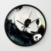 mother Wall Clocks featuring Mother by Jaleesa McLean