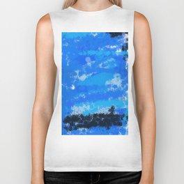 blue sea Biker Tank