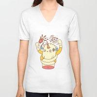 junk food V-neck T-shirts featuring junk food kills by failuretalent