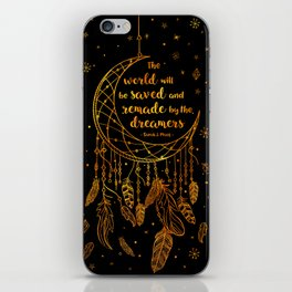 Saved and Remade - gold iPhone Skin