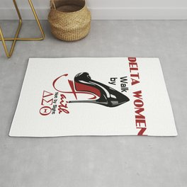 Delta Sigma Theta, Sorority, Delta Girl, High Heel, Delta Elephant Design, Alumni  Rug