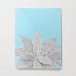 Light Blue Agave #2 #tropical #decor #art #society6 Metal Print